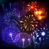 Fireworks Show Background Royalty Free Stock Image
