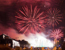 Fireworks show in Barcelona Stock Photo