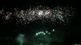 Fireworks show stock video