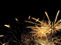 Fireworks show. Closing ceremony with colours fireworks Royalty Free Stock Photo