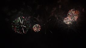 Fireworks show. Festival and celebration. Firework display. Fireworks show. Festival and celebration. Using spectacular Pyrotechnics for a New Year eve stock footage