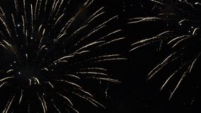 Fireworks show. Festival and celebration. Using spectacular Pyrotechnics for a New Year eve. Firework display stock footage