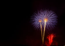 Fireworks Show / Guy Fawkes Night stock photography