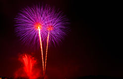 Fireworks Show / Guy Fawkes Night Stock Photo