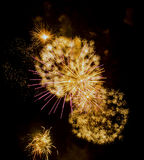 Fireworks Show / Guy Fawkes Night Royalty Free Stock Photo
