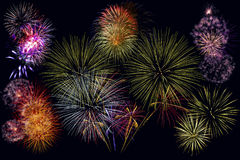 Fireworks. Show / Guy Fawkes Night / 5th November London, UK royalty free stock photos