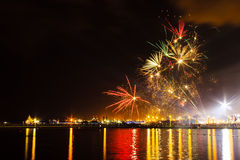 Fireworks Show In A Celebration Royalty Free Stock Photos