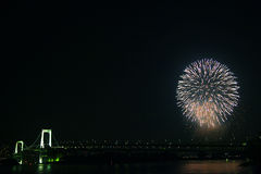 The fireworks show in tokyo Stock Image
