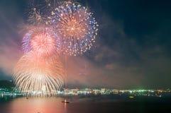 Fireworks Shower Stock Photo