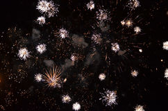 The  fireworks Sibiu International Theatre Festival 2014 Royalty Free Stock Photography
