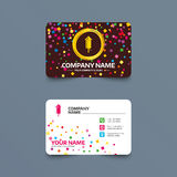 Fireworks sign icon. Explosive pyrotechnic. Business card template with confetti pieces. Fireworks rocket sign icon. Explosive pyrotechnic device symbol. Phone Stock Photo