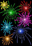 Fireworks in sky Royalty Free Stock Images
