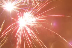 Fireworks in the sky. Fireworks at the sky Stock Images