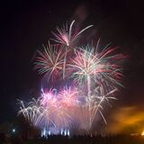 Fireworks in sky Royalty Free Stock Photography