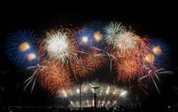 Fireworks on sky Stock Images