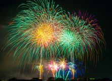 Fireworks in sky Royalty Free Stock Photos