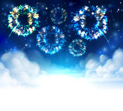 Fireworks Sky Background Stock Photography
