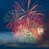 Fireworks in the sky Royalty Free Stock Photos