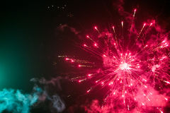 Fireworks in the sky. Lovely colored fireworks in the sky Royalty Free Stock Image