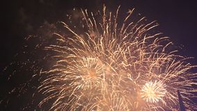 Fireworks. On the sky at the New Year stock video footage