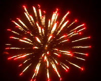 Fireworks in the sky at night as background.  Royalty Free Stock Photography