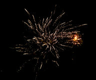Fireworks in the sky at night as background.  Stock Photos