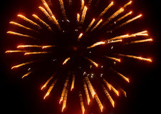 Fireworks in the sky at night as background.  Royalty Free Stock Images