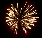 Fireworks in the sky at night as background.  Royalty Free Stock Image