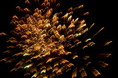 Fireworks in the sky at night as background.  Royalty Free Stock Photo