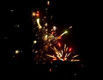 Fireworks in the sky at night as background.  Royalty Free Stock Photos