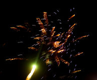 Fireworks in the sky at night as background.  Stock Image