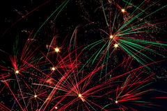 Fireworks in The Sky of Night Royalty Free Stock Image