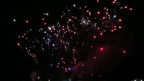 Fireworks in the sky video stock video footage