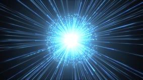 Fireworks Slow Motion Background With Shining Starburst