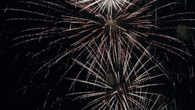 Fireworks in slow motion stock footage