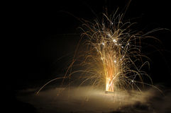 Fireworks in the snow Royalty Free Stock Photo