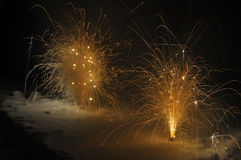 Fireworks in the snow Royalty Free Stock Photos