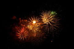 Fireworks. Some fireworks in the sky at the festival Royalty Free Stock Images