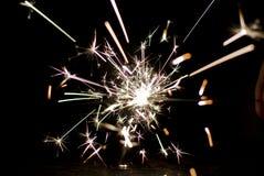Fireworks Sparkler. Close up shot of a Sparkler on Bonfire night Royalty Free Stock Images