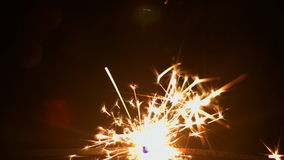 Fireworks sparkler closeup 4k 30fps ProRes (HQ) stock video