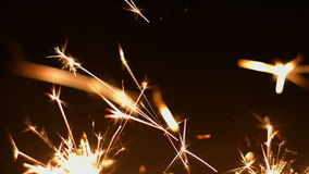 Fireworks sparkler closeup 4k 30fps ProRes (HQ) stock video footage