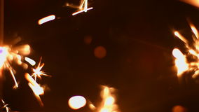 Fireworks sparkler closeup 4k 30fps ProRes (HQ) stock footage