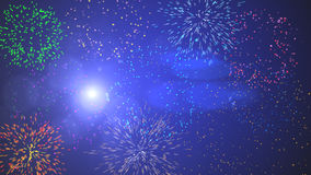 Fireworks Sparkler Cluster. Colorful ranges of fireworks and sparklers. Can be used for backgrounds Stock Image
