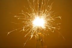 Fireworks Sparkler. A detailed shot of a firework sparkler, bengal light Royalty Free Stock Photography