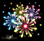 Fireworks splash colors Stock Photography