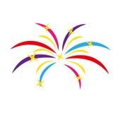 Fireworks splash isolated icon. Vector illustration design Royalty Free Stock Image