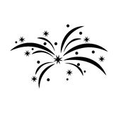 Fireworks splash isolated icon Stock Image