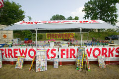 Fireworks stand Stock Photography