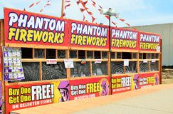Fireworks Stand in California Stock Photography
