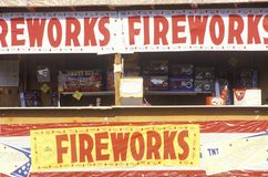 Fireworks Stand, Florida Stock Photography
